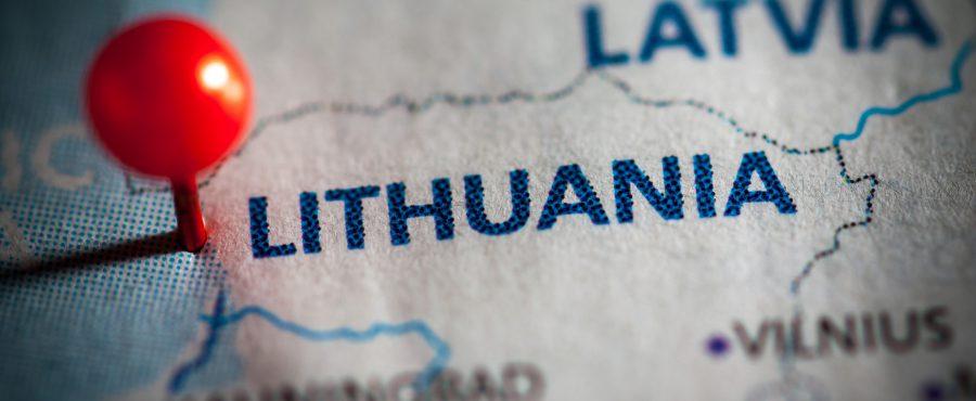 pineska na mapie litwy