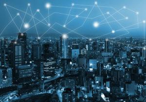 technologia blockchain nad miastem